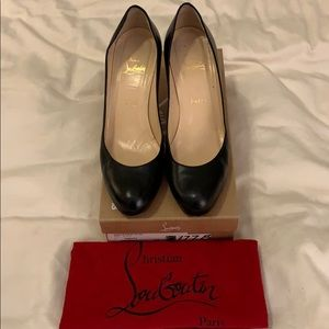Christian Louboutin simple black pump